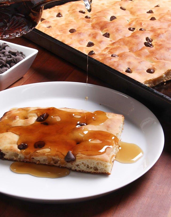 Sheet-Pan Pancakes with Chocolate Chips