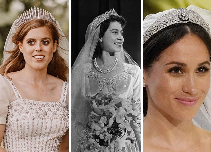 A Look Back At Every Wedding Tiara Worn By British Royals Purewow