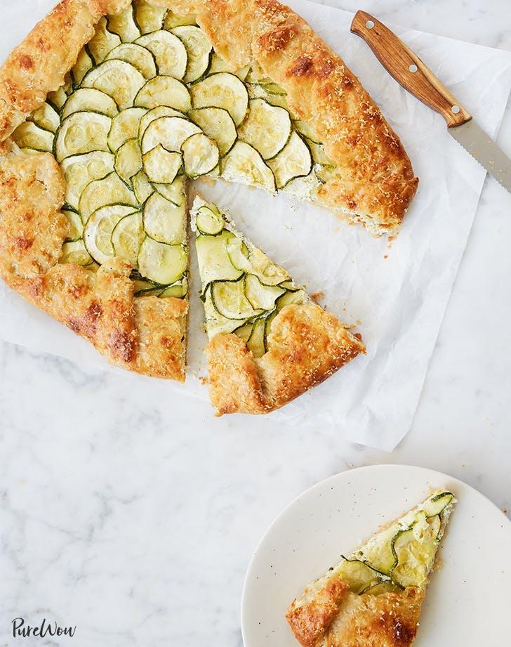 zucchini recipes Zucchini Ricotta Galette Recipe