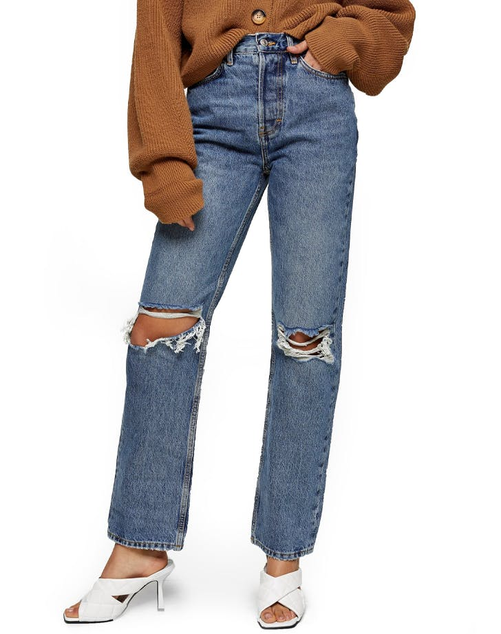 1. Topshop Ripped Dad Jeans