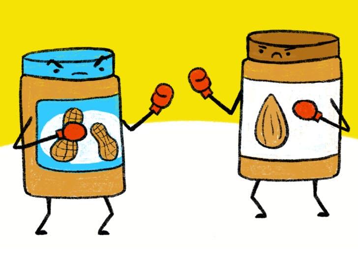 almond butter vs peanut butter fb1