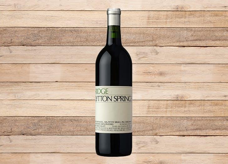 best wine for thanksgiving ridge lytton springs red blend 2017