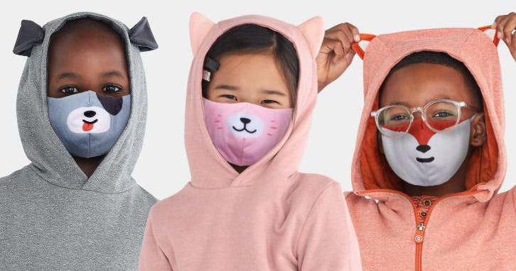 These Ingenious Face Masks Transform into Hair Ties and Bracelets, So Kids Don't Lose Them