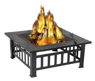 fast yard makeover wood firepit
