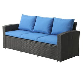 fast yard makeovers blue patio couch