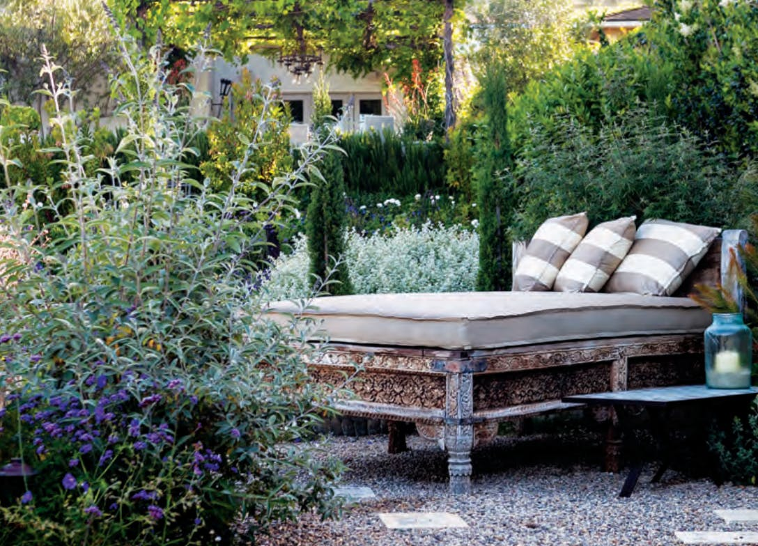 fast yard makeovers outside bed