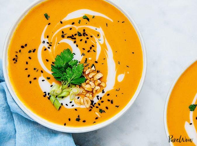instant pot thanksgiving recipes spicy thai butternut squash soup
