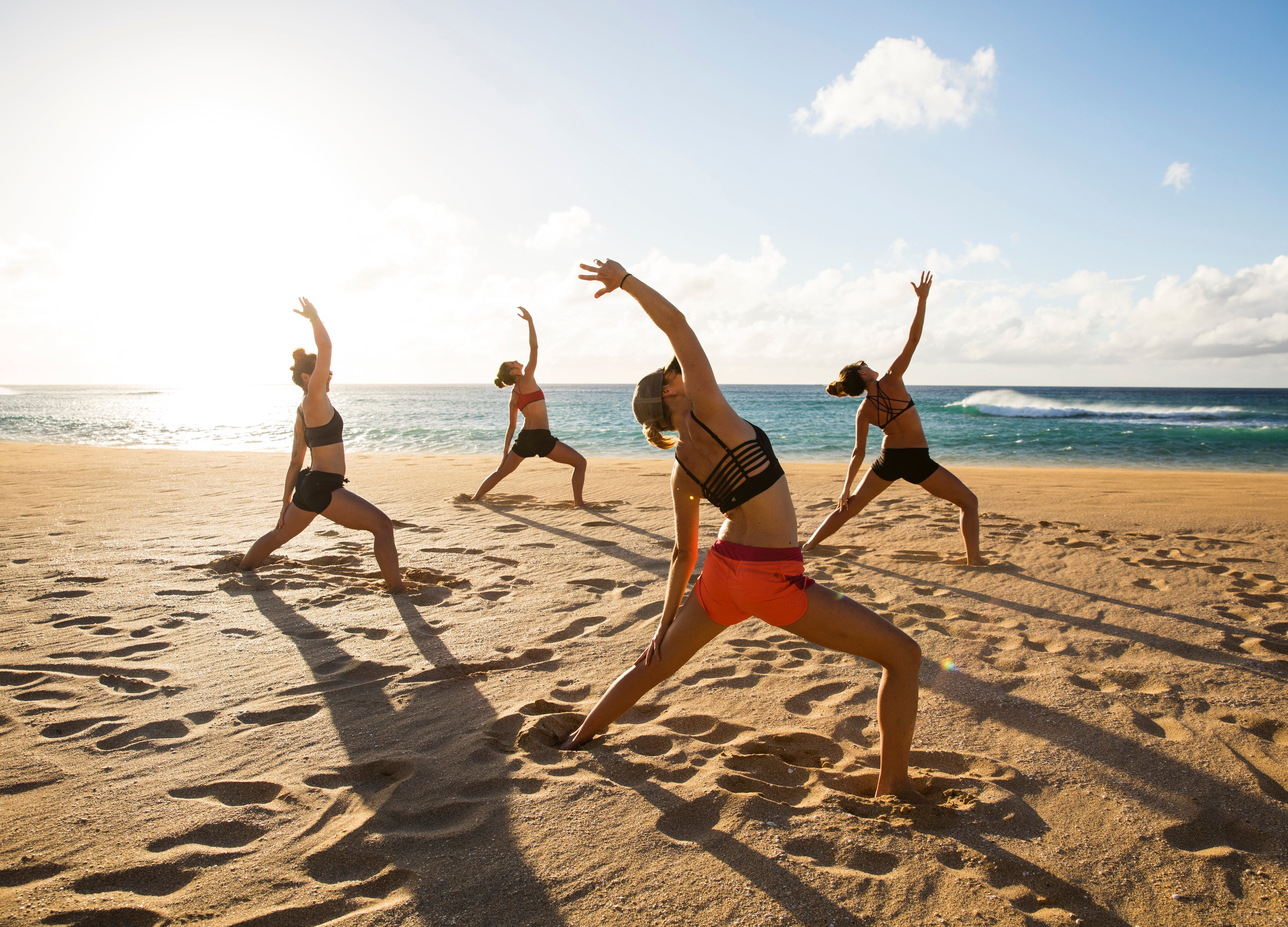 outdoor workouts in los angeles beach
