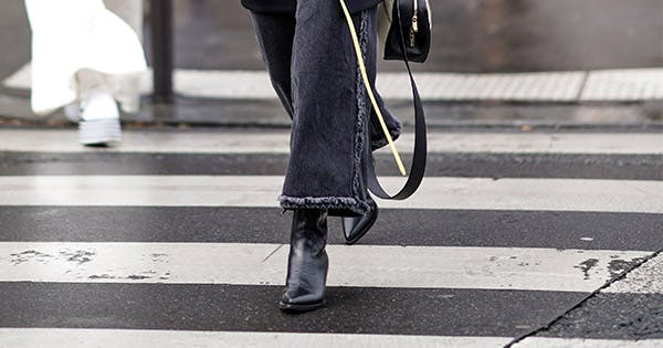 The One Rule For Pairing Ankle Boots With Wide Leg Jeans
