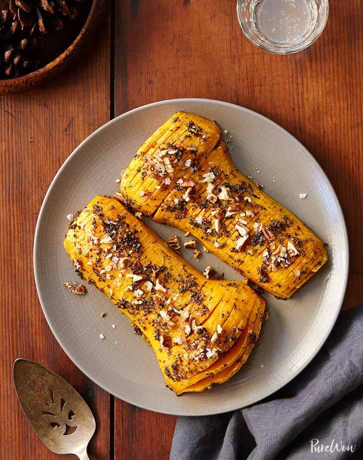 easy thanksgiving side dishes hasselback butternut squash recipe
