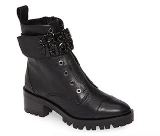 karl lagerfeld combat boots