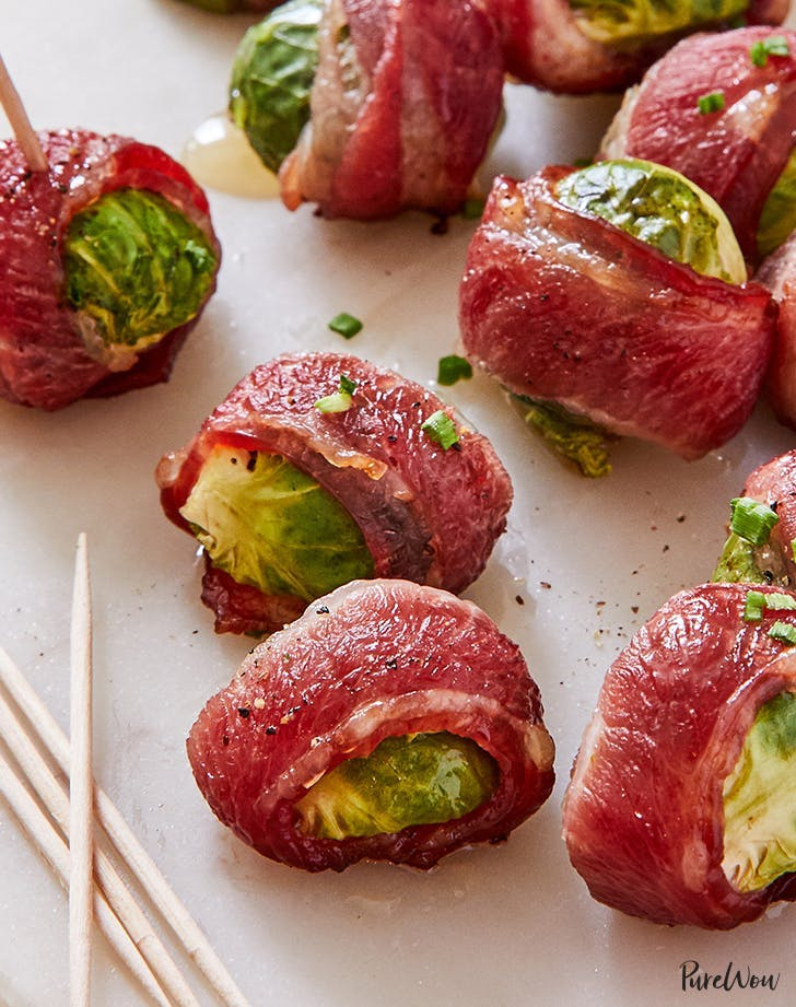 non traditional thanksgiving dinner ideas crispy bacon wrapped brussels sprouts recipe