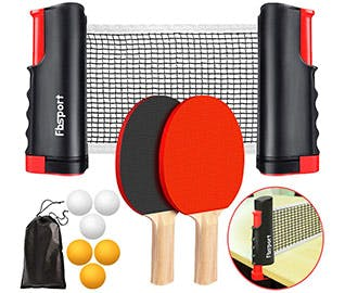 portable ping pong set