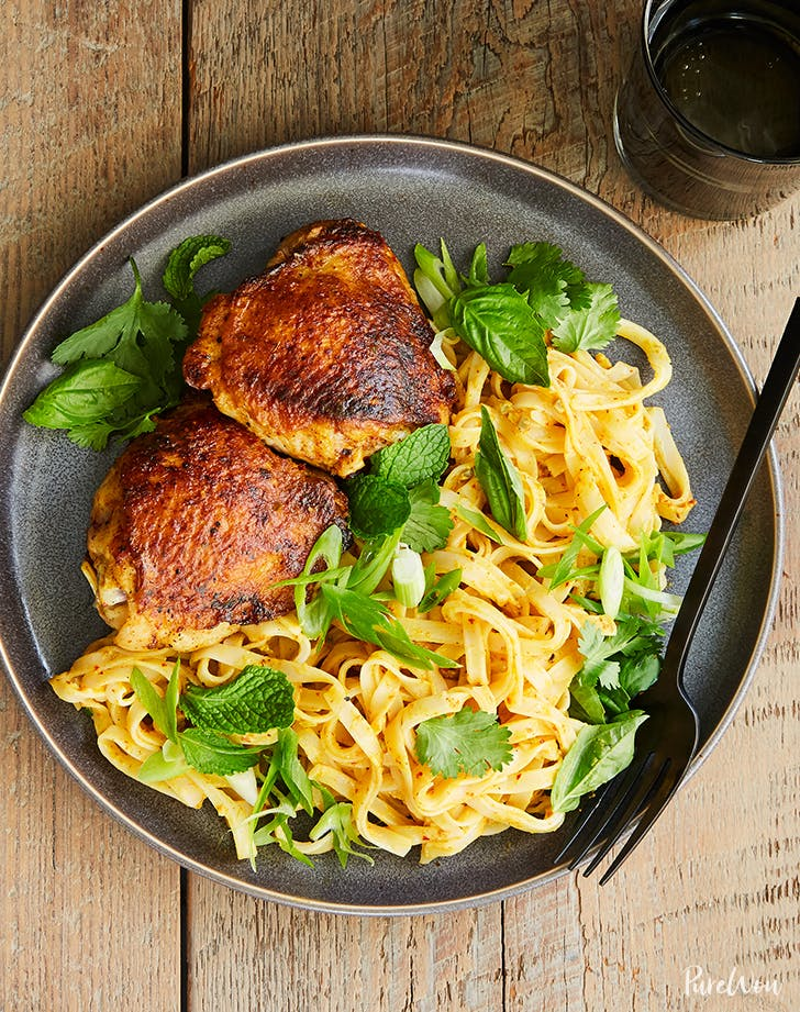 Grilled Curried Chicken Thighs