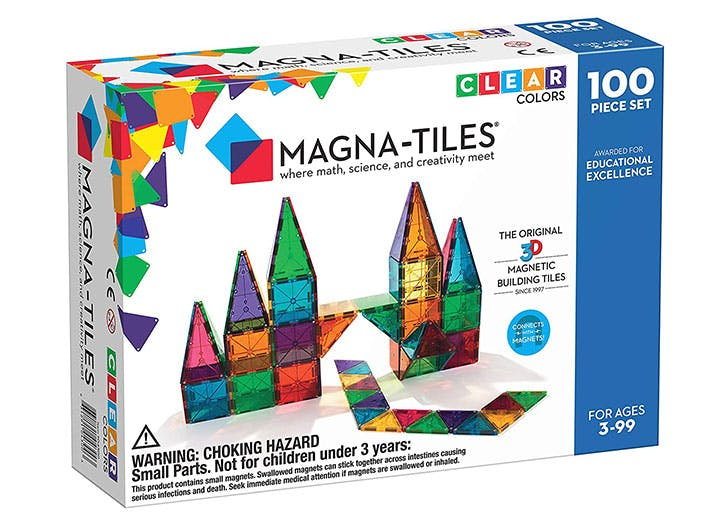 This 100-Piece Magna-Tiles Set Is Rated Five Stars on Amazon (& Is Seriously Discounted Right Now)
