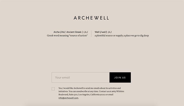 archewell website homepage