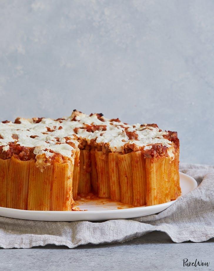 baked pasta recipes Ultimate Rigatoni Pasta Pie Recipe