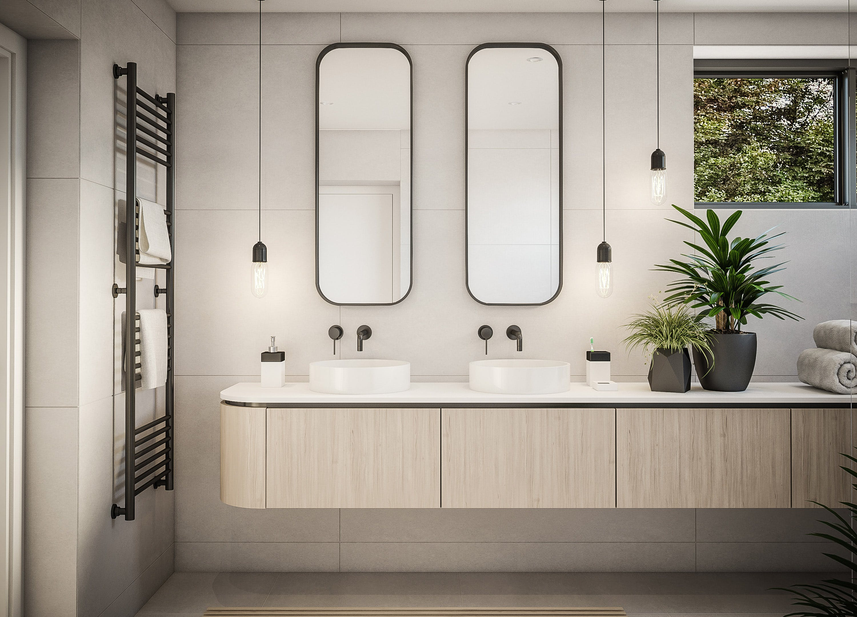 bathroom mirror trend two mirrors