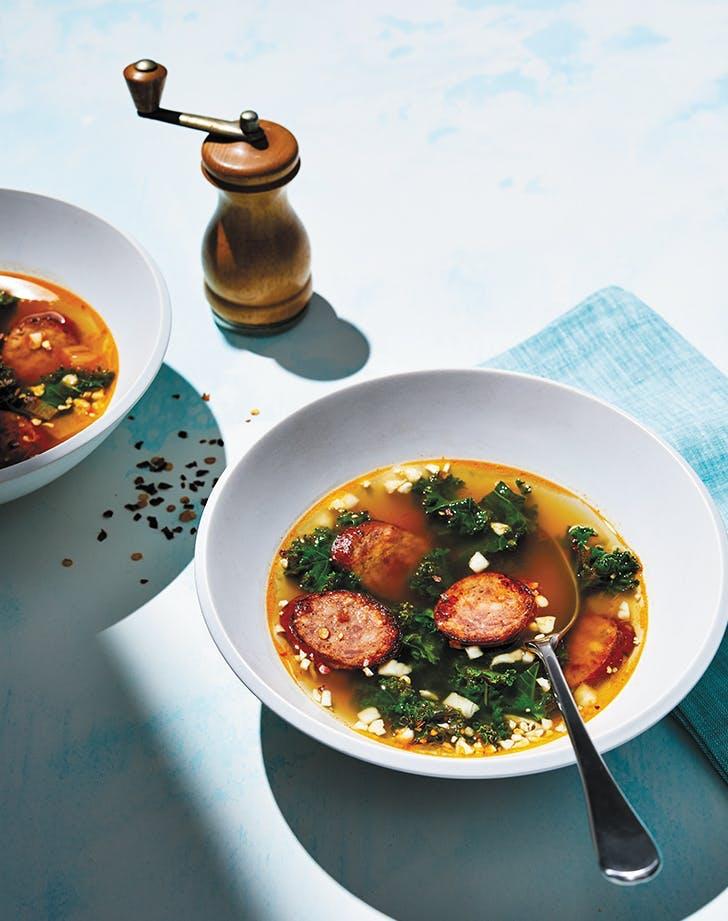 fall soup recipes keto instant pot sausage kale soup recipe