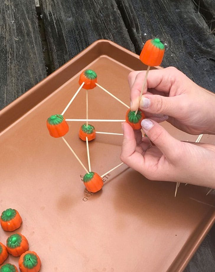 halloween games for kids candy corn toothpick towers