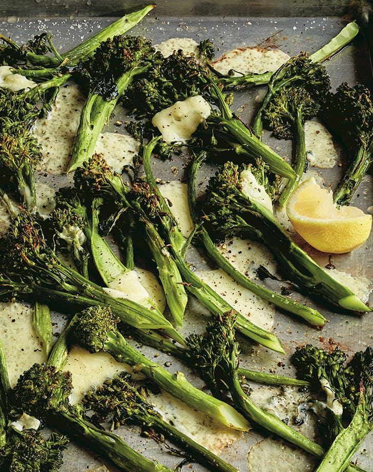 Ina Garten's Roasted Broccolini & Cheddar