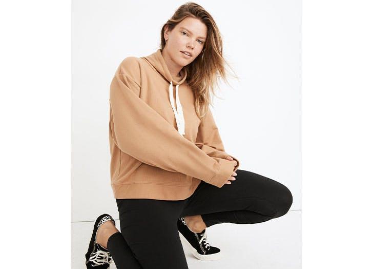mwl ribbed funnelneck sweatshirt