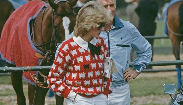 princess diana sheep sweater