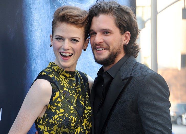 Rose Leslie Gave Kit Harington a Haircut While on the Phone & It Did *Not* Go Well