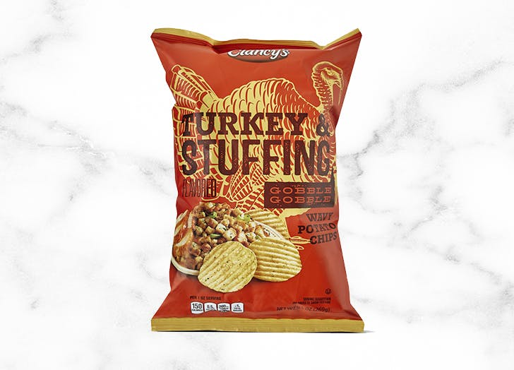 what to buy at aldi Clancys Turkey and Stuffing Wavy Potato Chips