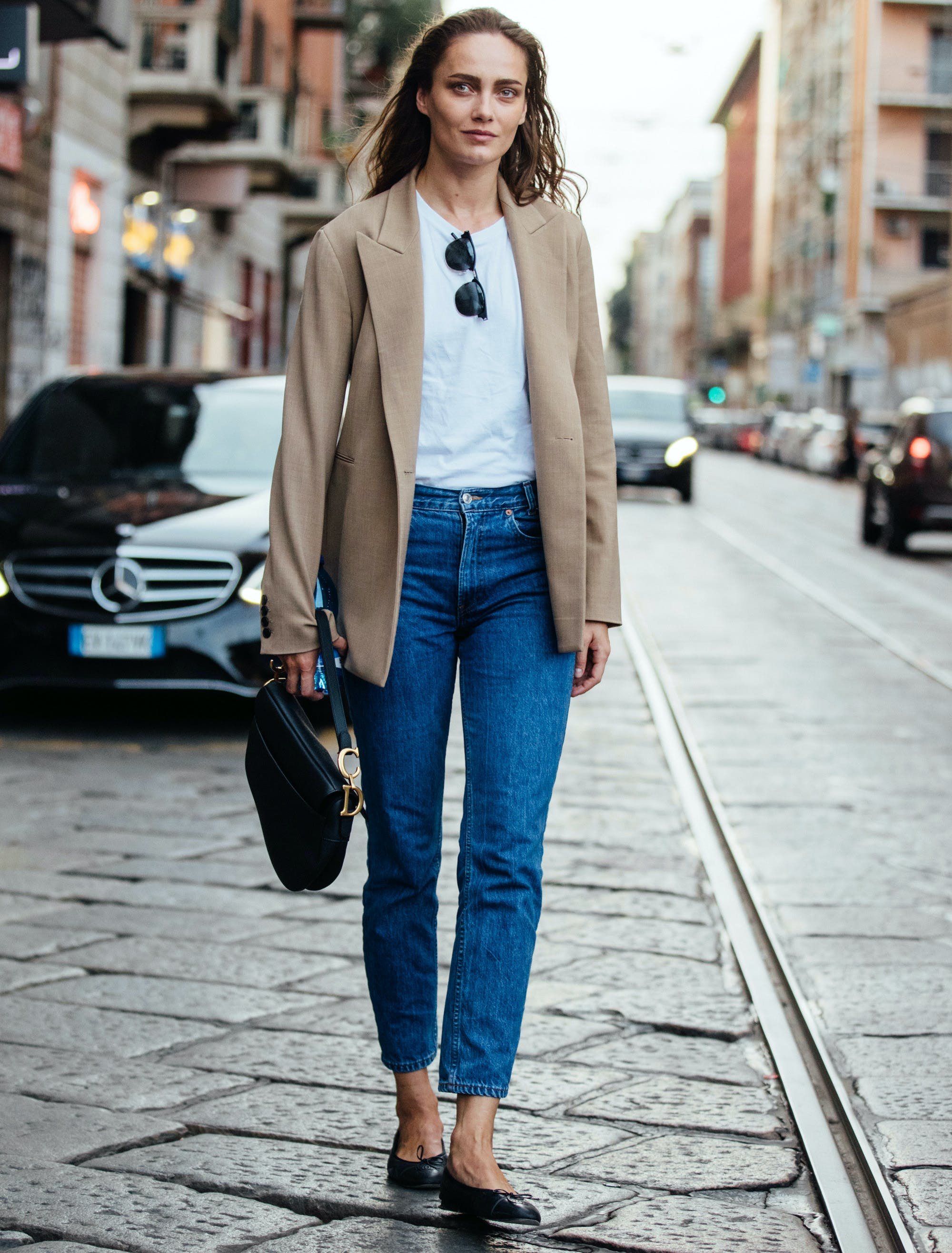 what shoes to wear with skinny jeans ballet flats