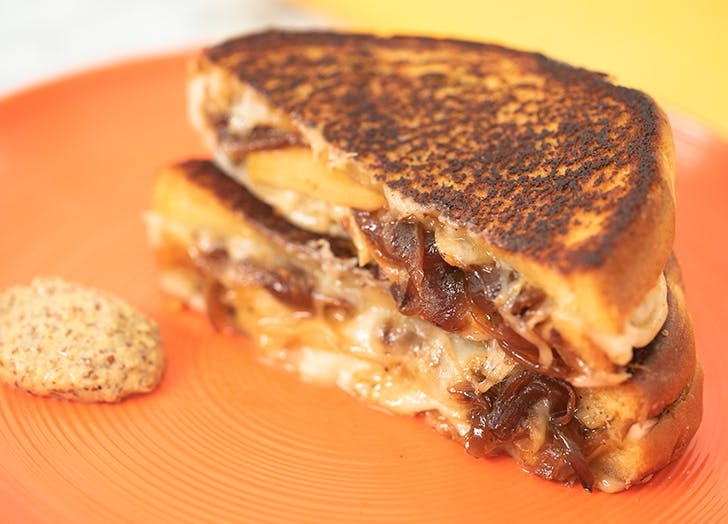 Caramelized Onion and Pear Grilled Cheese