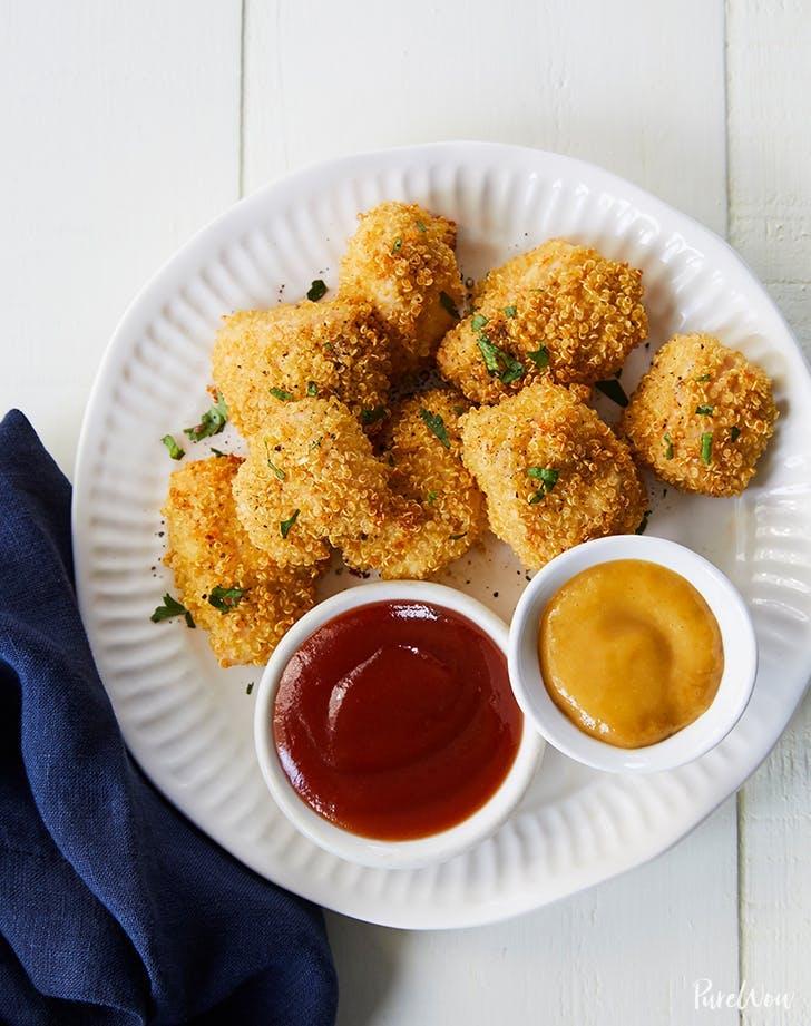 fancy chicken nuggets baked quinoa chicken nuggets recipe