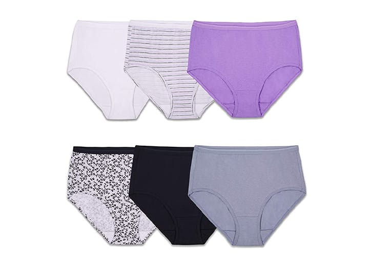 NEW  Five Woman/'s size 7 Fruit of the Loom White Cotton Underwear Panties