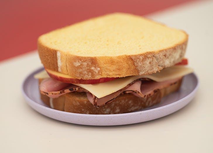 Ham, Swiss and Apple Sandwich