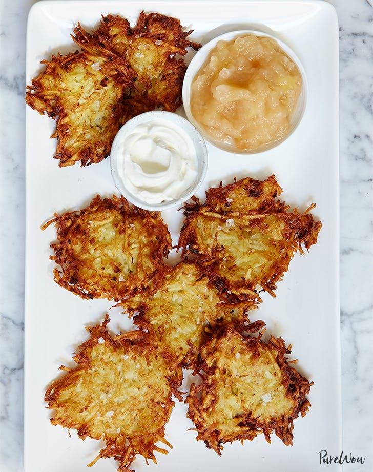 hanukkah food Crispy Potato Latkes Recipe
