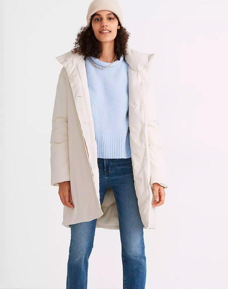 madewell buffy coat