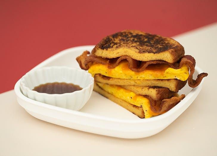 Maple French Toast Breakfast Sandwich