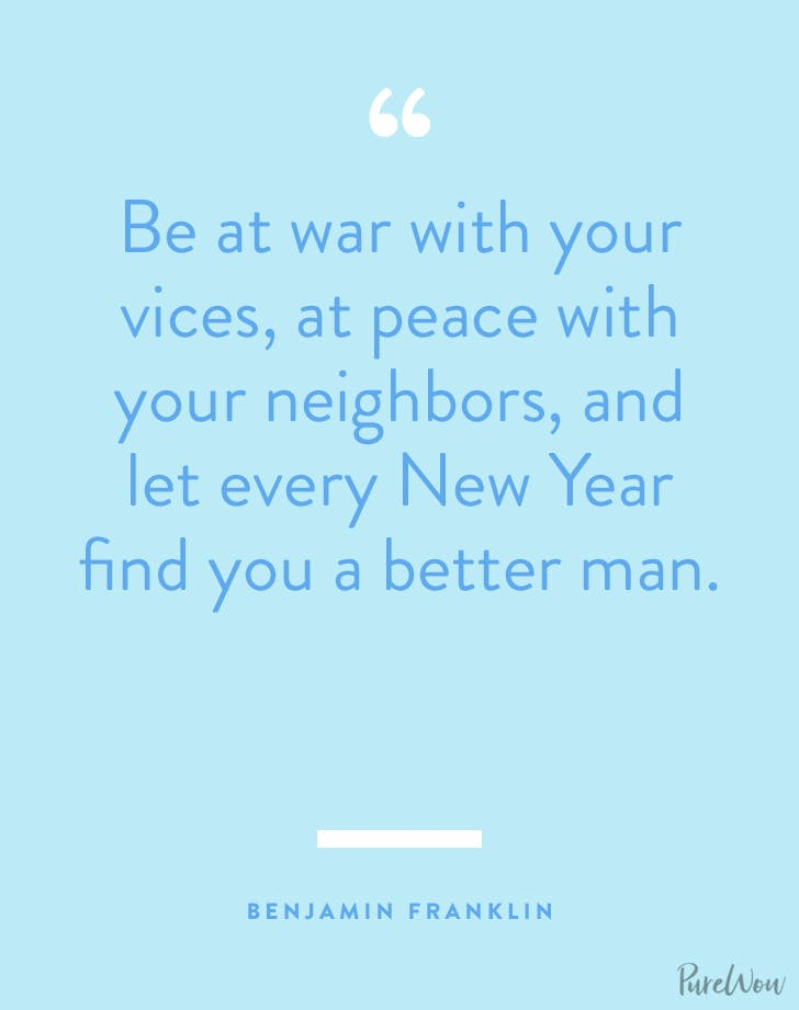 new years quotes benjamin franklin