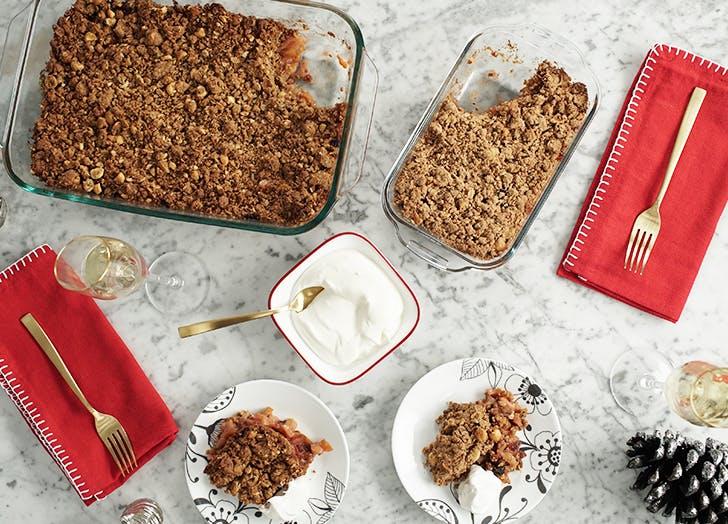 pyrex pear crumble recipe