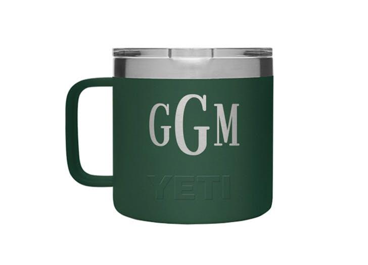 yeti monogrammed mug