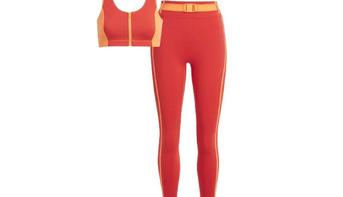 best matching workout sets solid and striped