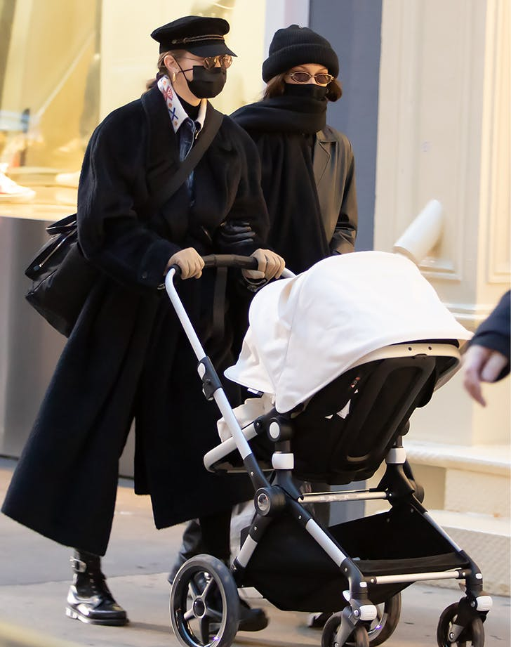Yeah, Gigi Hadids Outfit Is Cool, But What About That Stroller Shes Pushing? We Investigate