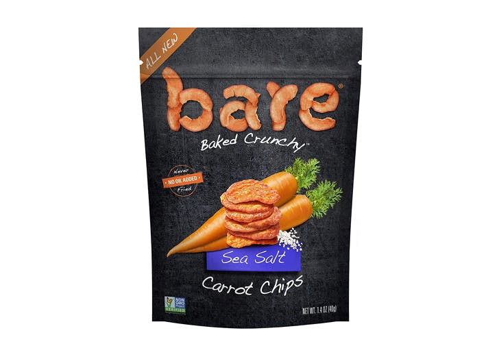healthy alternatives to chips Bare Baked Crunchy Carrot Chips