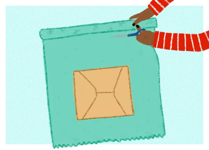 how to wrap a gift step 1