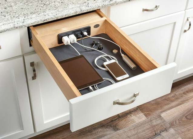 kitchen trends charging drawer