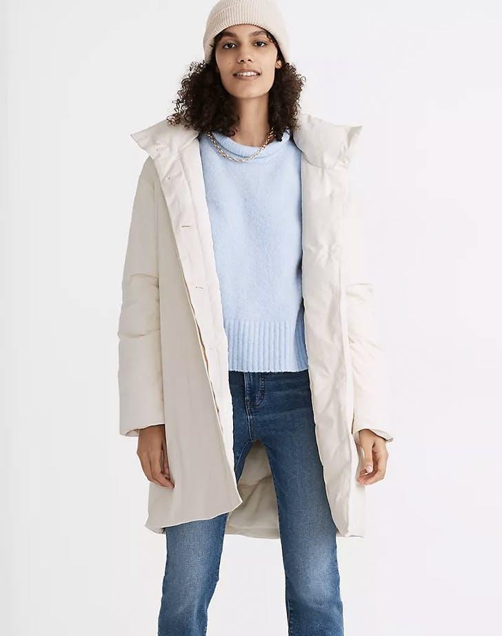 madewell x buffy duvet coat