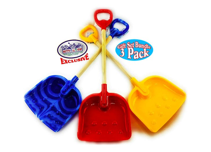 """Three Plastic Garden 28/"""" Tools for a Child New. Colorful"""