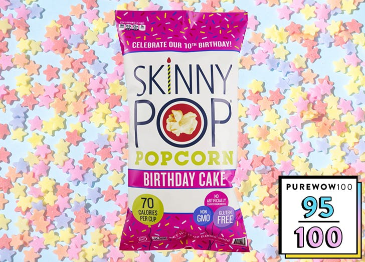 skinnypop birthday cake popcorn review CAT