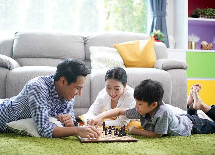 spending time with family board games