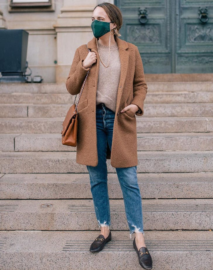 winter face mask outfit ideas grace atwood